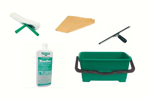 Kits, pack, Ensemble Nettoyage de vitres Salle de bains - Unger