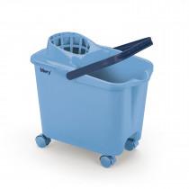 Seau bleu à roulettes MERY 14L + essoreur