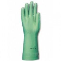 Gant Nitrile Vert SINGER Floqué coton.