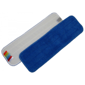 Mop Microfibre 44 cm bleu avec velcro et codes couleurs  - DE WITTE
