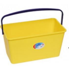 Seau rectangulaire 13L-jaune- multi usages